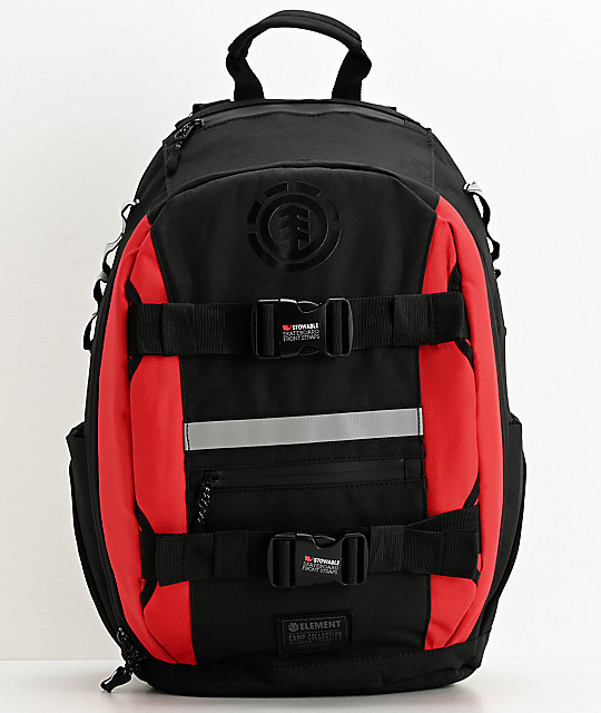 Element Mohave Fire Red & Black Backpack