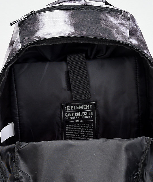 Element Mojave Black & White Acid Wash Backpack