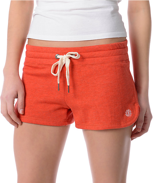 Element Nadia Red Knit Shorts