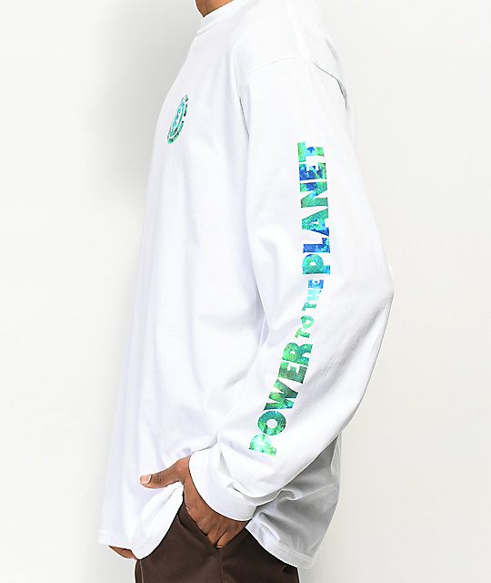 Element PTTP Earth Day White Long Sleeve T-Shirt