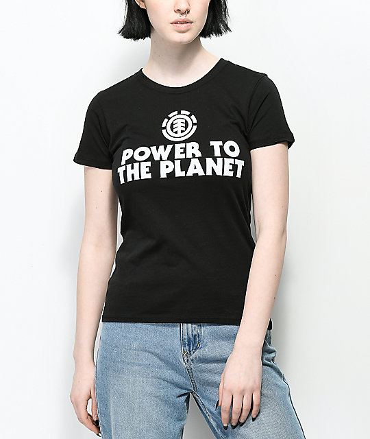 Element PTTP Earth Day camiseta negra