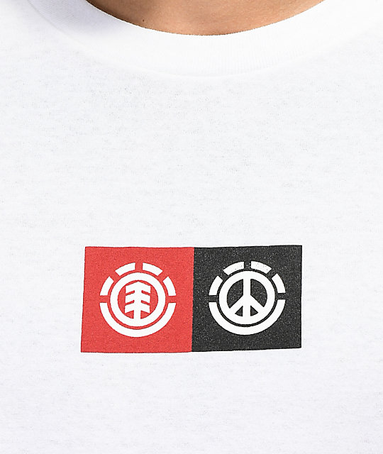 Element Peace Front White T-Shirt