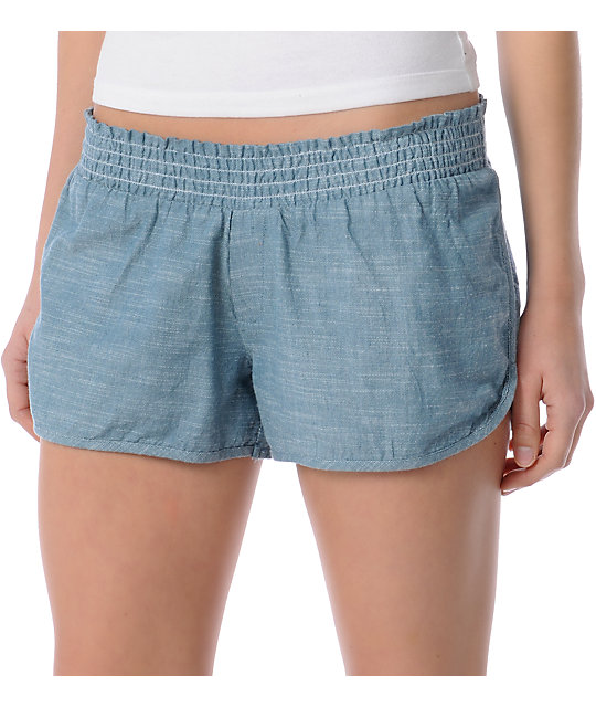 Element Pedal Blue Woven Shorts