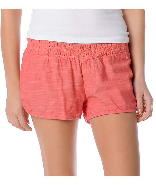 Element Pedal Red Woven Shorts