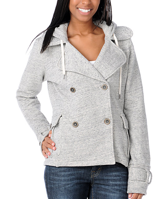 Element Robin Heather Grey Hooded Jacket