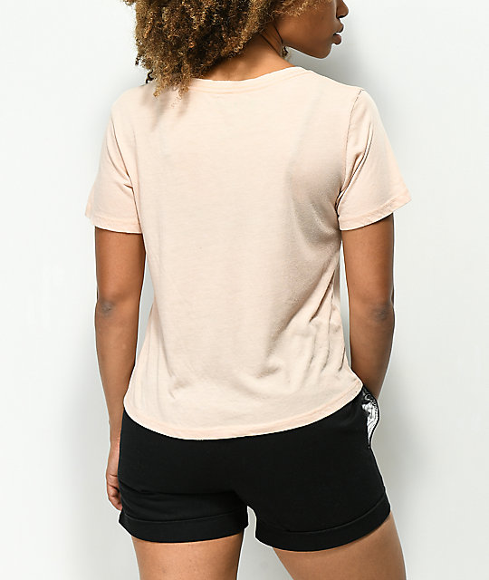 Element Rose Box Pink Semi-Cropped T-Shirt