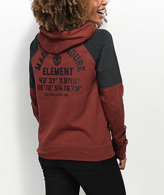 Element Say It Loud Maroon Hoodie
