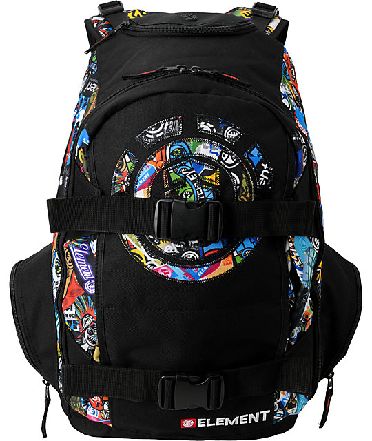 6eb9b2e18e35 Element Skate Camp Black Skate Backpack