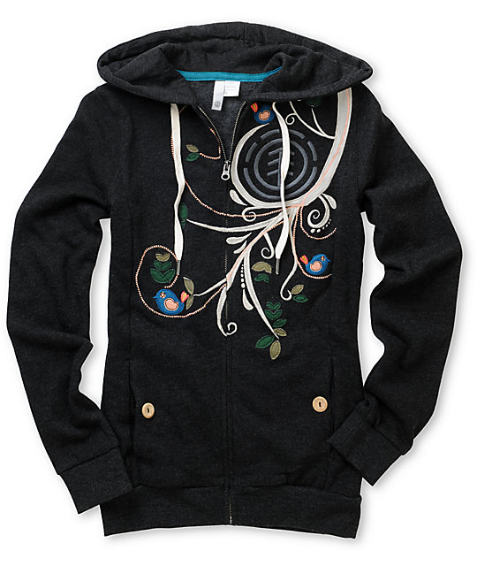 Element Skylark Embroidered Zip Up Hoodie