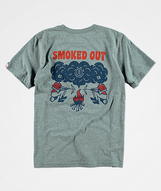 Element Smoke camiseta gris para niños