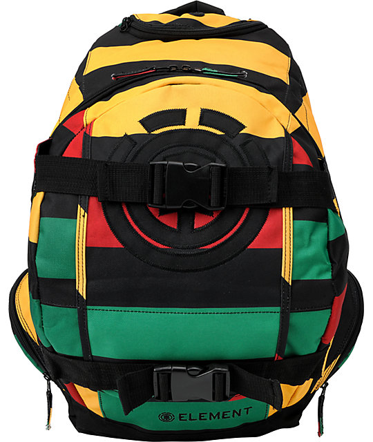 Element Striper Rasta Skate Backpack
