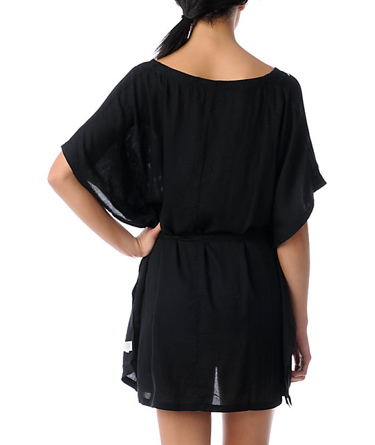 Element Sunrise Woven Black Dress