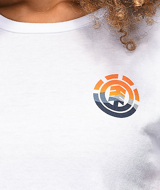 Element Sunset White Crop T-Shirt