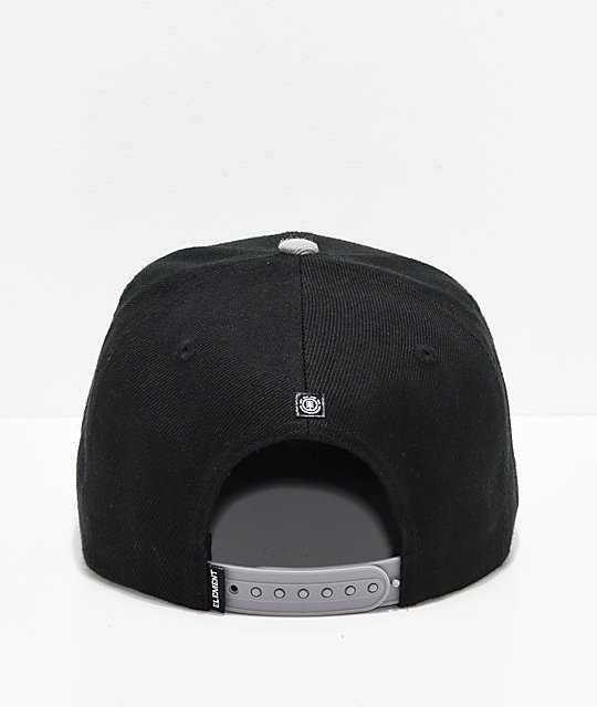 Element United Logo Black & Red Snapback Hat