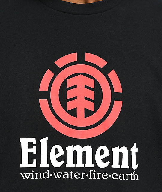 Element Vertical Flint Black T-Shirt