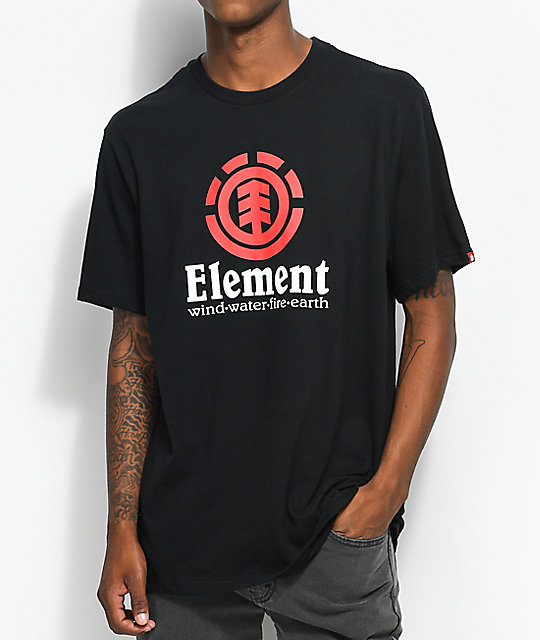 Element Vertical Flint camiseta negra