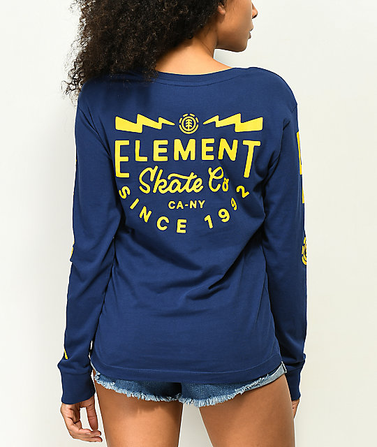 Element Zap camiseta azul de manga larga