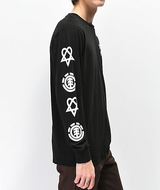 18bb6f52a3d Element x BAM x HIM Tattoo Black Long Sleeve T-Shirt