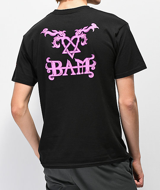 e7eb77d03d6 Element x BAM x HIM Tattoo Black T-Shirt