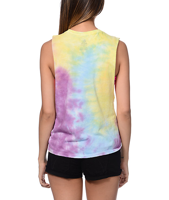 Element x Jac Vanek Boogie Tie Die Muscle Tank Top