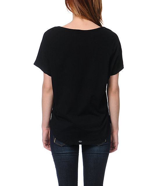 Element x Jac Vanek Party Hard Black Scoop Neck T-Shirt