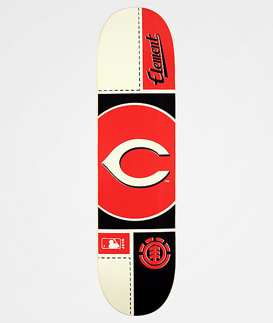 "Element x MLB Cincinnati Reds Circle 8.0"" tabla de skate"