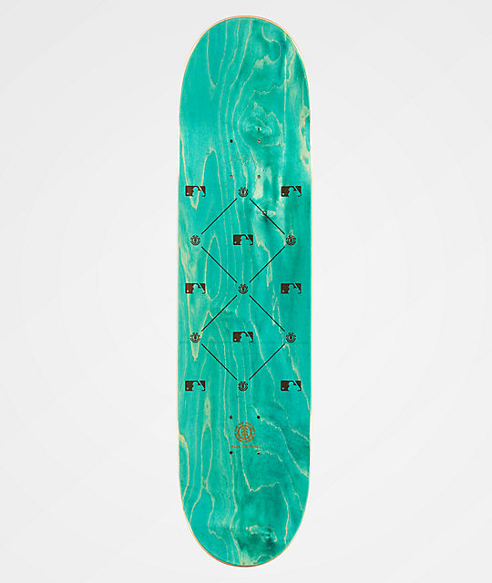 "Element x MLB Los Angeles Dodgers Circle 8.0"" Skateboard Deck"