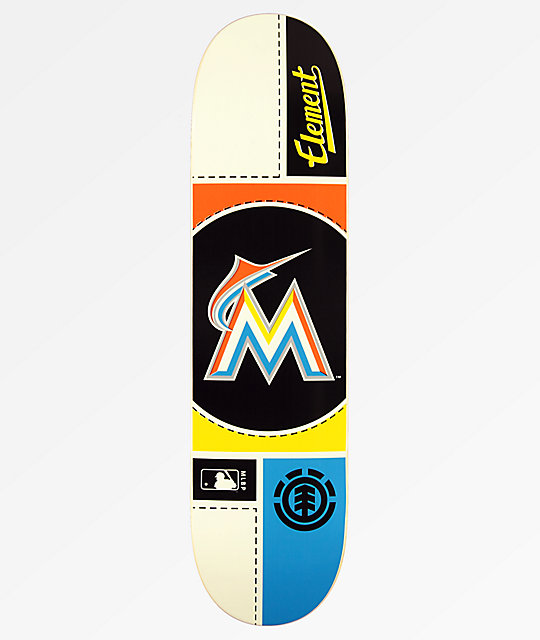 "Element x MLB Miami Marlins Circle 8.0"" Skateboard Deck"