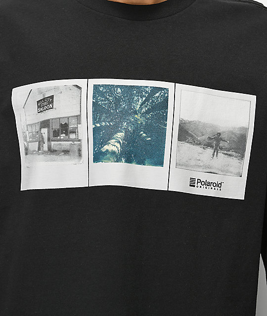 Element x Polaroid Brandon Westgate Black Long Sleeve T-Shirt