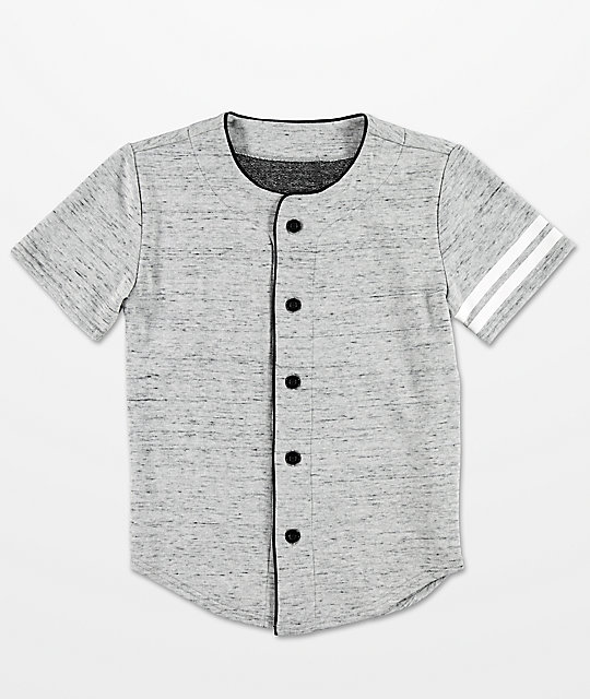 Elwood Boys Heather Grey Baseball Jersey