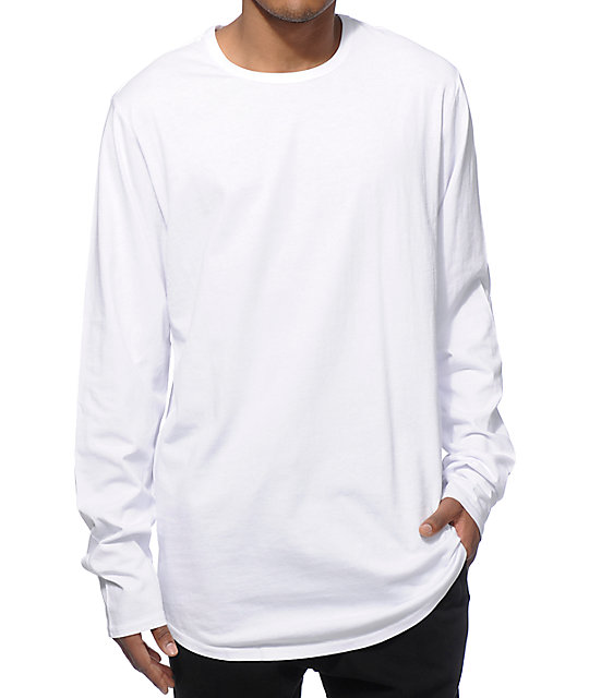 Elwood Curved Hem Long Sleeve Long T-Shirt  dfab982c849