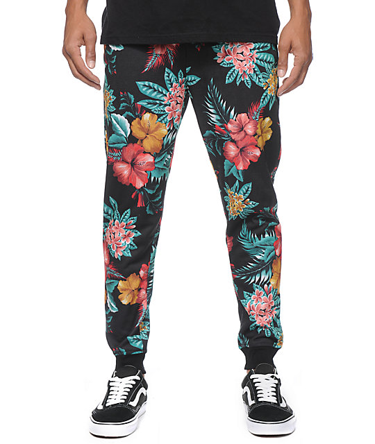 Elwood Island Floral Sublimated Skinny Jogger Pants