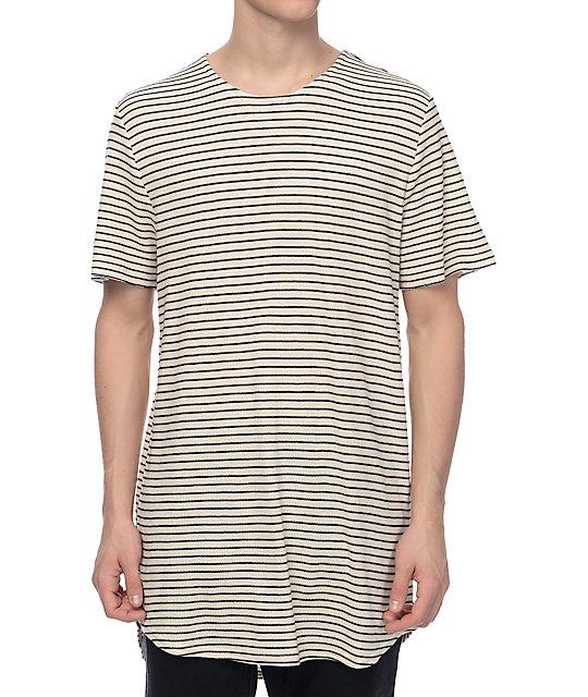 18e51d711 Elwood Tan & Black Stripe Thermal Tall T-Shirt | Zumiez