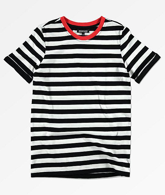 02a8a419b Elwood camiseta a rayas en negro y blanco para niños ...