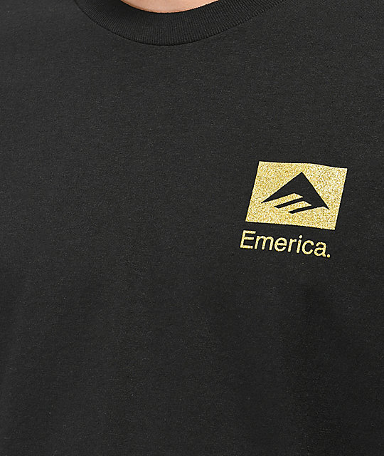 Emerica Brand Stack Black & Gold T-Shirt