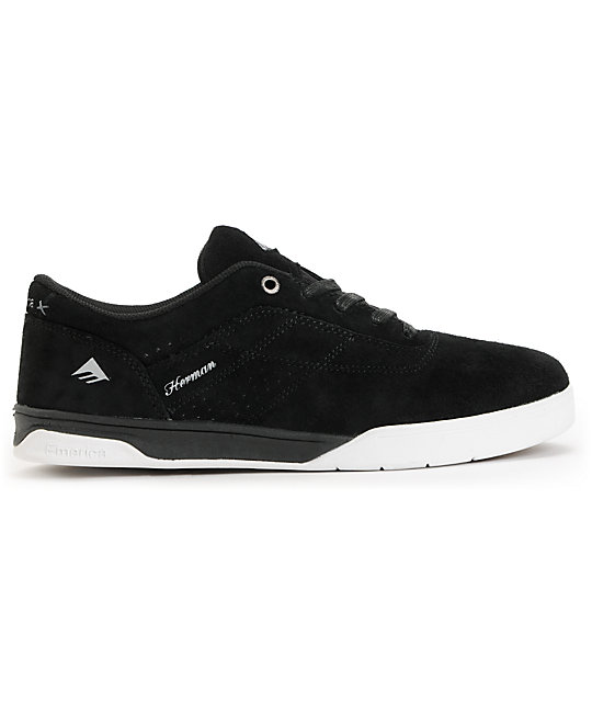 Emerica Bryan Herman G6 Black & White Skate Shoes