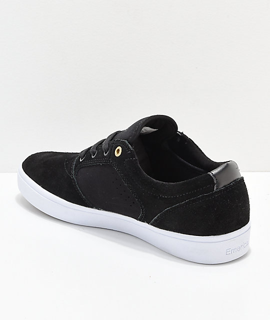 Emerica Figgy Dose Black & White Skate Shoes