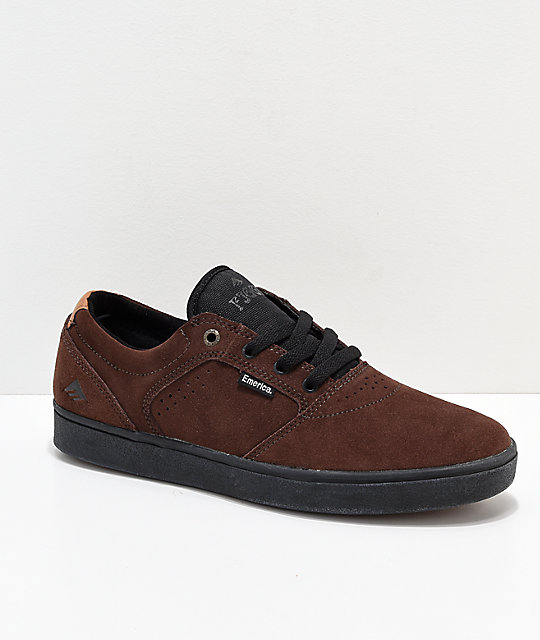 Emerica Figgy Dose Brown & Black Skate Shoes
