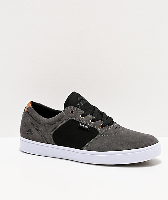 Emerica Figgy Dose Grey & Black Skate Shoes