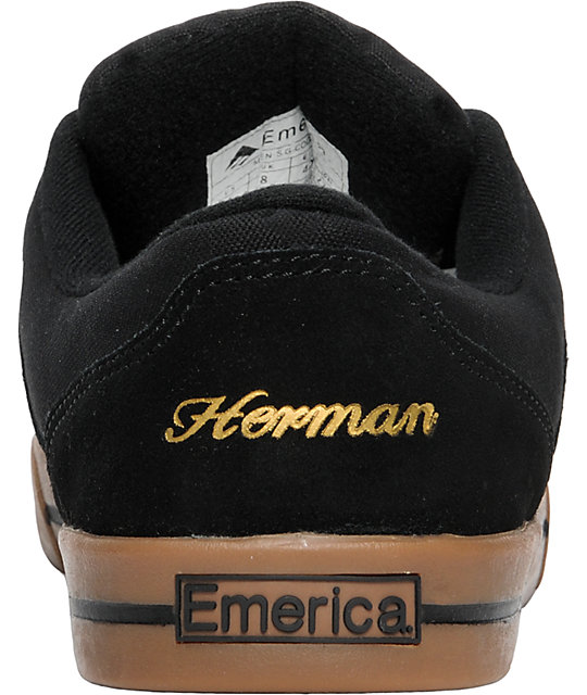 Emerica G-Code!!! Black & Gum Shoes