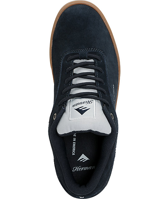 Emerica G-Code Bryan Herman Navy & Gum Skate Shoes
