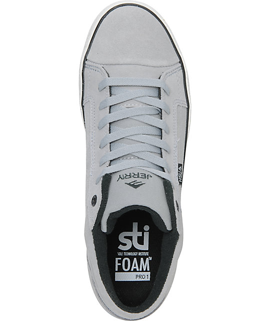 Emerica Hsu 2 Fusion Grey & White Skate Shoes