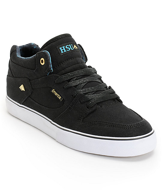 Emerica Hsu Black & Hawaiian Canvas Skate Shoes