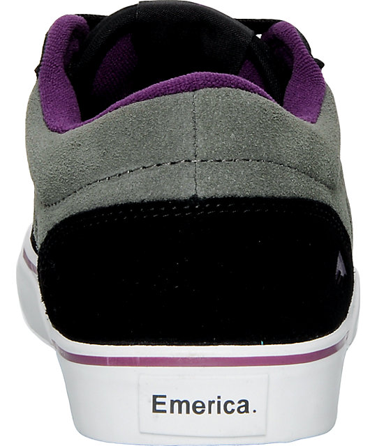 Emerica Jinx Black & Grey Shoes