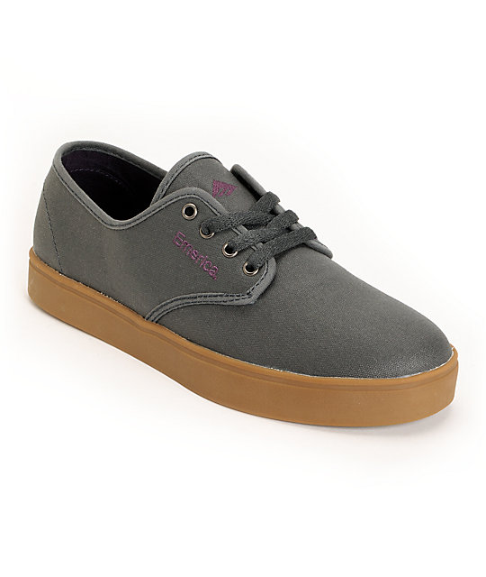 Emerica Laced Graphite Canvas Shoes