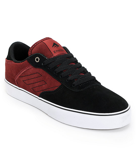 Emerica Liverpool Maroon & Black Suede Shoes
