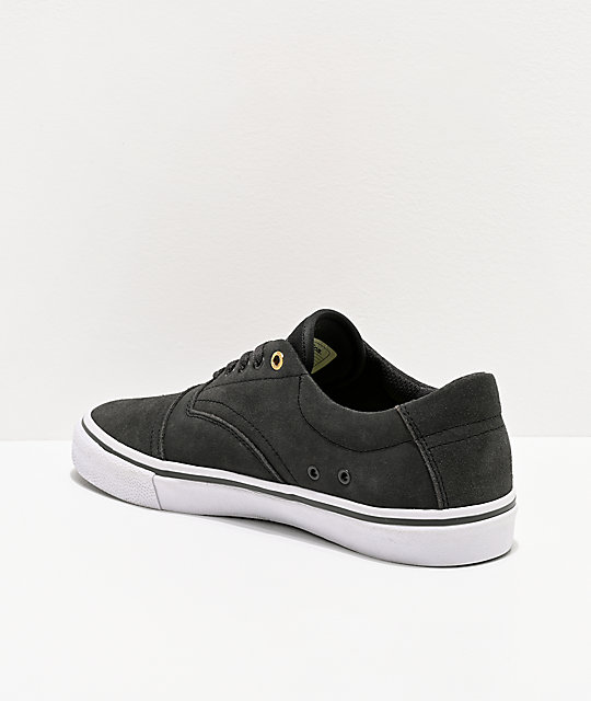 Emerica Provider Dark Grey & White Skate Shoes