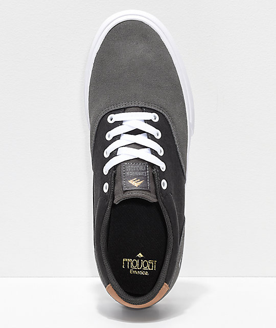 Emerica Provost Slim Vulc Grey & White Skate Shoes
