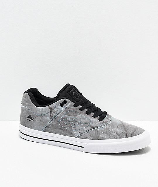 Emerica Reynolds 3 G6 Vulc Blue   Grey Wash Skate Shoes  8fc74f43b