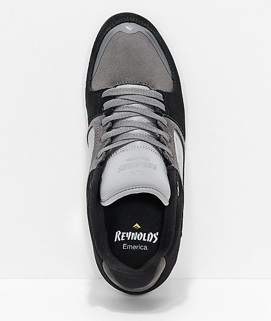 Emerica Reynolds G6 Black & Grey Suede Skate Shoes